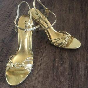Gold heel open toe